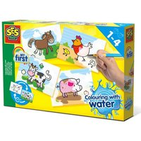 SES Creative Childrens My First Colouring with Water Farm Animals Set