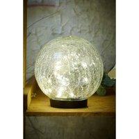 Giant Crackle Glass Sphere LED Solar Light.