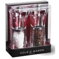 Cole and Mason Crystal Precision Salt and Pepper Mills.
