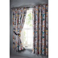 Spaceman Pencil Pleat Lined Curtains