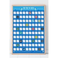 Bucket List - 100 Fishing Poster.