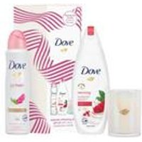 Dove Radiantly Refeshing Duo and Candle Gift Set.