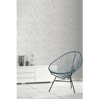'3d Flower Wall White Wallpaper