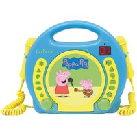 Lexibook Peppa Pig Portable CD Player with 2 Sing-Along Microphones
