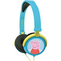 Lexibook Peppa Pig Stereo Wired Foldable Headphone with Kids Safe Volume