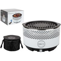 B and Co Alfresco Smokeless Charcoal Grill