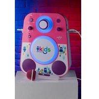 Singing Machine 3Watt Sing Along Kids Bluetooth Karaoke Machine With LED lights and Karaoke Microphone.