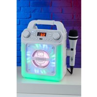 Singing Machine 5Watt Bluetooth Karaoke Machine with LED Lights, Karaoke Microphone and Voice Effects.