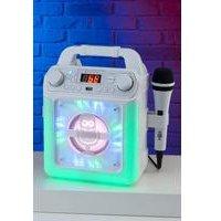 Singing Machine 5Watt Bluetooth Karaoke Machine with LED Lights, Karaoke Microphone and Voice Effects.
