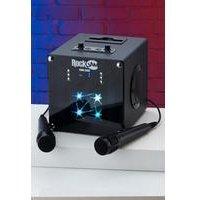 Rockjam Singcube Rechargeable Bluetooth Karaoke Machine with Two Karaoke Microphones.