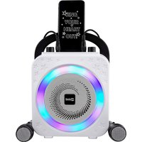 The Rockjam Party Karaoke Machine with Bluetooth, 10Watt Speaker and Two Karaoke Microphones.