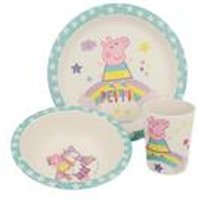 Stor Peppa Pig Bamboo 3 Piece Set with Rim