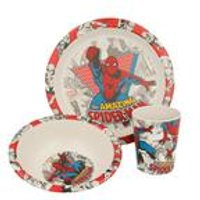 Stor Spiderman Bamboo 3 Piece Set with Rim