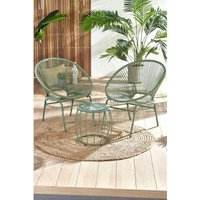 Santorini 3-Piece Rope Effect Garden Chairs and Table Set.