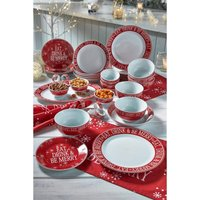 50-Piece Red Script Christmas Dinner In A Box