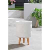 Stripe Wood Leg Pot.