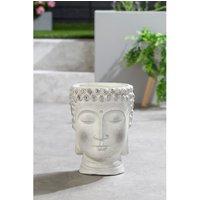 Fibre Clay Buddha Head Pot.