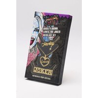 Harley Quinn Loves Joker Replica Necklace Set