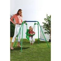 Nursery Swing with Fabric Seat