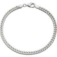 Sterling Silver Heavyweight Foxtail Chain Bracelet