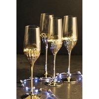 Set of 4 Glam Flute Glasses.