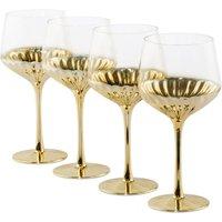 Set of 4 Glam Wine Glasses.
