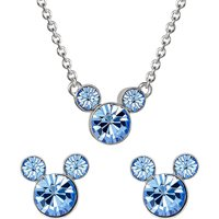Disney Mickey Mouse December Birthstone Earring and Necklace Gift Set.