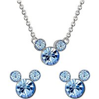Disney Mickey Mouse December Birthstone Earring and Necklace Gift Set