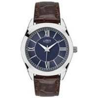Limit Mens Silver Brown Strap Watch.