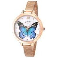 Limit Ladies Rose Gold Plated Mesh Bracelet Watch.