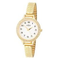Limit Ladies Gold Plated Expander Bracelet Watch.