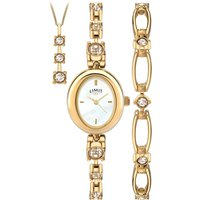 Limit Ladies Gold Plated Watch Gift Set.
