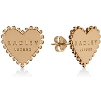 Radley Love 18ct Gold Plated Sterling Silver Heart Stud Earrings