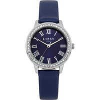 Lipsy Navy PU Strap Watch with Navy Sunray Dial.