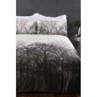 Digital Velvet Winter Trees Duvet Set