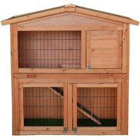 Charles Bentley FSC Two Storey Rabbit Hutch with Play