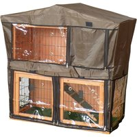Charles Bentley Two Storey Rabbit Hutch with Play Area Cover