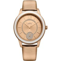 Lipsy Rose Gold Strap Watch with Rose Gold Dial.