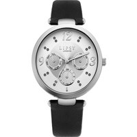 Lipsy Black Strap Watch with Silver Mock Multi Dial.