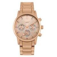Lipsy Rose Gold Bracelet Watch with Rose Gold Mock Multi Dial.