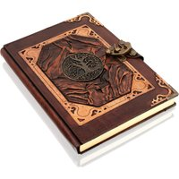 Woodland Leathers Journal Celtic Tree of Life Motif Genuine Leather