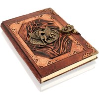 Woodland Leathers Journal Mythical Pegasus Motif Genuine Leather