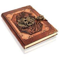 Woodland Leathers Journal Mythical Pegasus Motif Genuine Leather