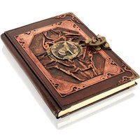 Woodland Leathers Journal Wolf Motif Genuine Leather