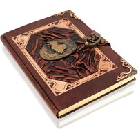 Woodland Leathers Journal Howling Wolf Motif Genuine Leather