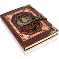 Woodland Leathers Journal Heart Motif Genuine Leather