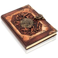Woodland Leathers Journal Triskelion Motif Genuine Leather