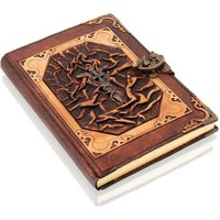 Woodland Leathers Journal Dagger Sword Motif Genuine Leather