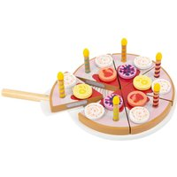 LEGLER Small Foot Childrens Cuttable Birthday Cake with Candles Play Set.