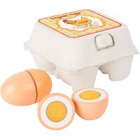 LEGLER Small Foot Childrens Wooden Eggs Toy Play Set.